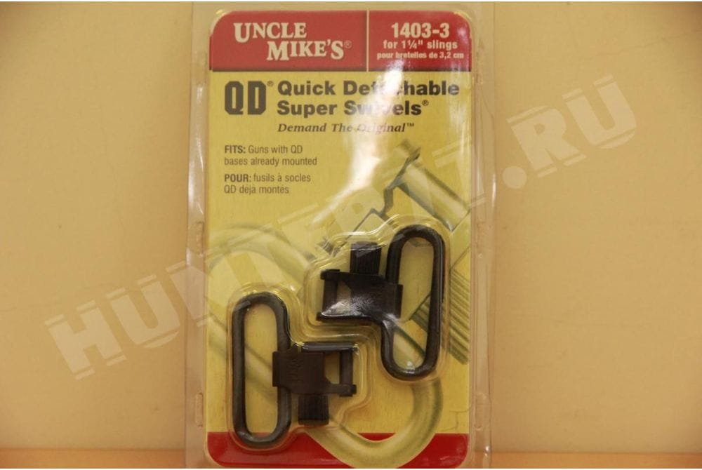 "Антабки Uncle Mike's Super Swivel черные 1"" 1,25"""