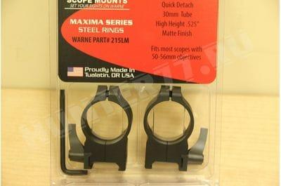 Warne Scope Mounts Matte Quick Detach Rings 30mm