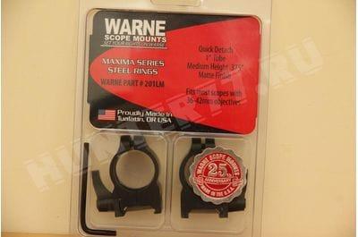 """Warne Scope Mounts Matte Quick Detach Rings 1"""""""