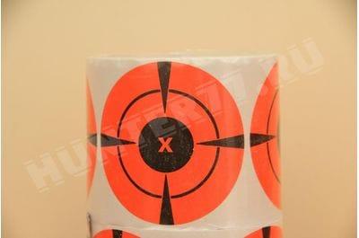 """Мишени 3"""" 125 штук рулон оранжевая флюоресцентная самоклейка"""