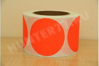 """Мишени 3"""" 500 штук флюоресцентная оранжевая"""