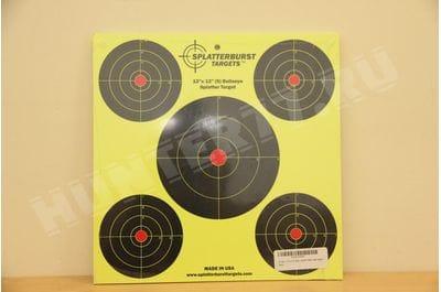 """Мишень 12""""x12""""  пять кругов Splatterburst Targets"""