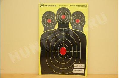 """Мишень 12""""x18""""  три головы BEEWARE Targets"""