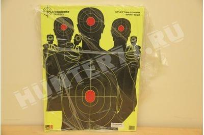 """Мишени 18"""" х 24"""" Три пистолета Splatterburst Targets для стрельбы"""