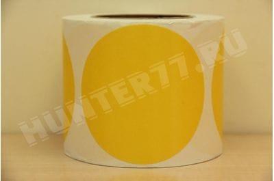 """Мишени 4"""" 500 штук Желтая флюоресцентная самоклейка"""