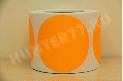 Targets 4 500 pieces Orange fluorescent self-adhesive
