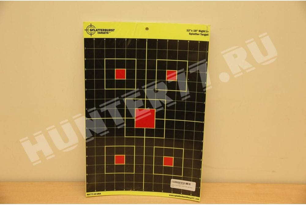 "Мишени 12""x18"" сетка 5 квадратов Splatterburst Targets"
