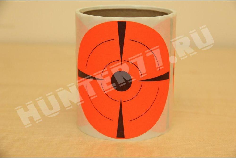 """Мишени 4"""" 50 штук Самоклейка флюоресцентная оранжевая"""