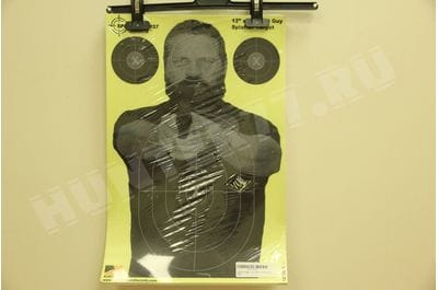 "Splatterburst Targets - 12 x18 inch - ""Bad Guy"" Reactive Shooting Target - Shots Burst Bright Fluorescent Yellow Upon Impact"