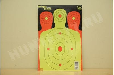 "12"" x 18"" - Fluorescent Triple Silhouette Shooting Target - Bright Sight + Free Splatter Target  Bright Sight 25 piece"