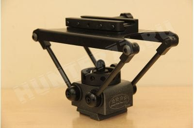 Alamo DCLW head on tripod Manfrotto weaver under Manfrotto clamp 1/4""