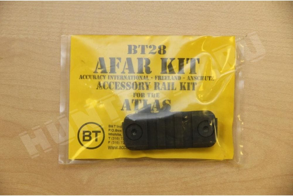 Вивер планка - адаптер на еврошину  BT28: AFAR Rail Kit, tlas Bipod AFAR (Accuracy International, Freeland, Anschutz Rail) Kit Steel Black