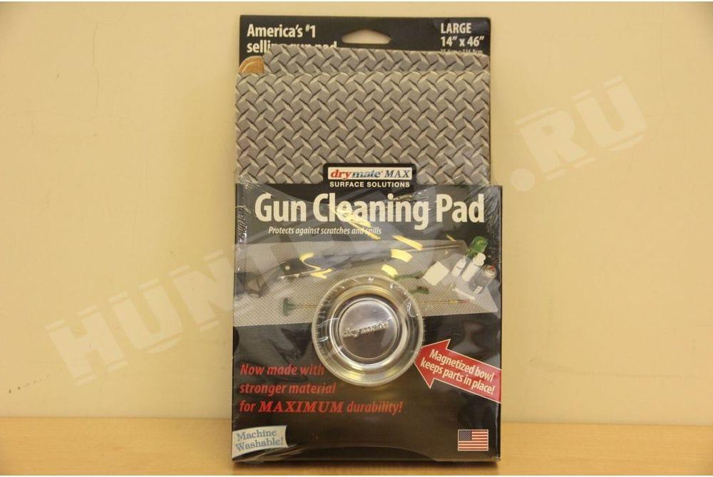 """Коврик 14""""x46"""" дм Drymate с магнитной тарелкой для чистки оружия серый в рубчик"""