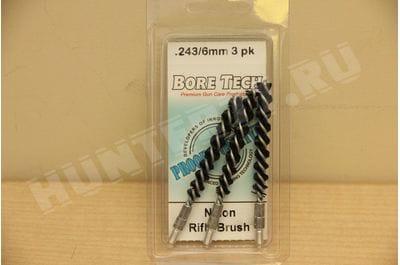Bore Tech Nylon Rifle Brush (3 pack) NYLON R-BRUSH .243 CAL / 6 MM (3 PK) BTNR-06-003