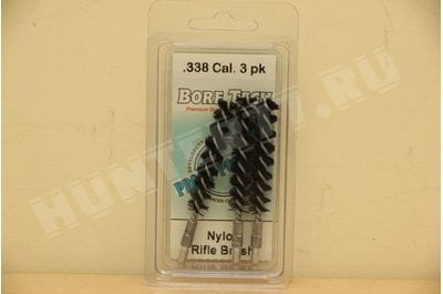 Bore Tech Nylon Rifle Brush (3 pack) NYLON R-BRUSH  .338 CAL (3PK) BTNR-338-03