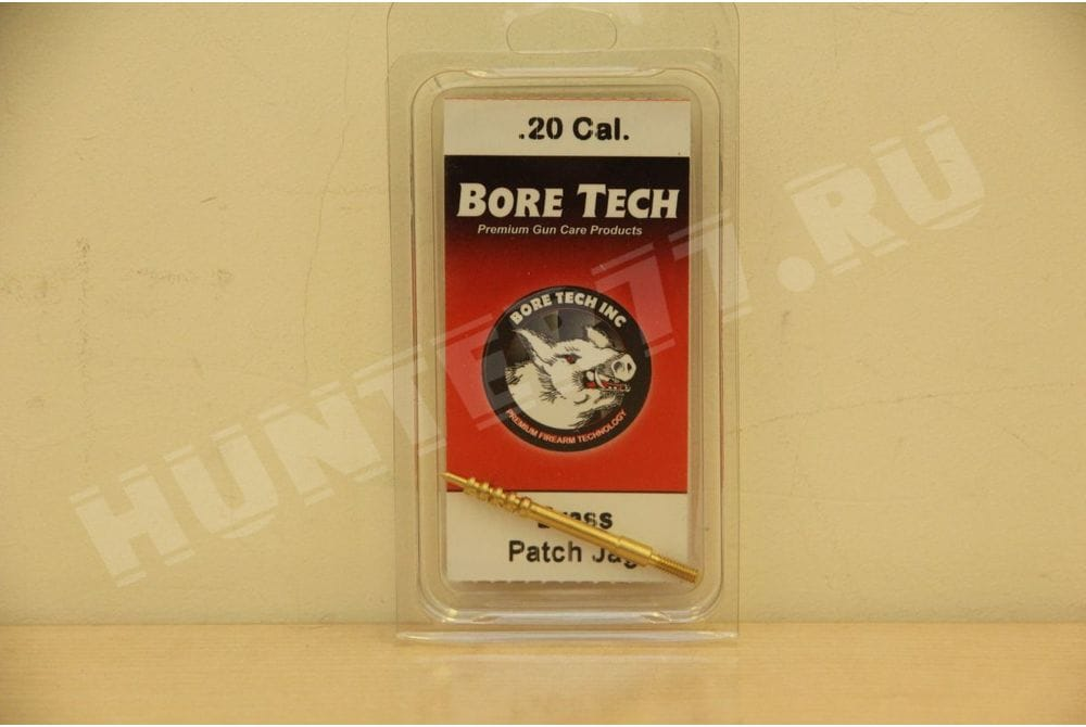 Игольчатый латунный вишер Bore Tech BRASS V-STIX PATCH JAG, .20 CAL  SSPJ-20-000