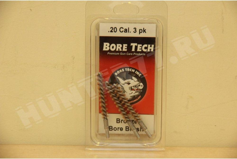 Бронзовый ерш .20 CAL Bore Tech 3 шт BRONZE R-BRUSH, .20 CAL (3 PK) BTBR-20-003
